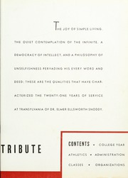 Page 9, 1936 Edition, Transylvania University - Crimson Yearbook (Lexington, KY) online yearbook collection