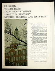 Page 6, 1968 Edition, Transylvania University - Crimson Yearbook (Lexington, KY) online yearbook collection