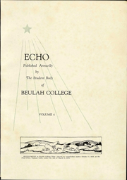 Page 5, 1928 Edition, Beulah College - Echo Yearbook (Upland, CA) online yearbook collection