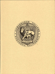 Page 15, 1971 Edition, Ambassador College - Envoy Yearbook (Big Sandy, TX) online yearbook collection
