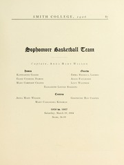 Page 91, 1906 Edition, Smith College - Smith College Yearbook (Northampton, MA) online yearbook collection