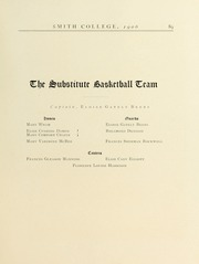 Page 93, 1906 Edition, Smith College - Smith College Yearbook (Northampton, MA) online yearbook collection