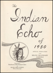 Page 7, 1950 Edition, Biloxi High School - Indian Echo Yearbook (Biloxi, MS) online yearbook collection