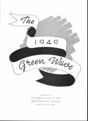 Page 3, 1949 Edition, West Point High School - Green Wave Yearbook (West Point, MS) online yearbook collection
