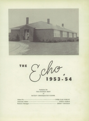 Page 7, 1954 Edition, Hatley High School - Echo Yearbook (Hatley, MS) online yearbook collection