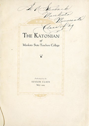 Page 3, 1924 Edition, Minnesota State University - Katonian Yearbook (Mankato, MN) online yearbook collection
