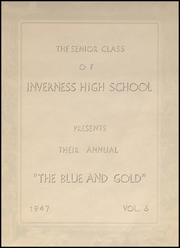 Page 7, 1947 Edition, Inverness High School - Blue and Gold Yearbook (Inverness, MS) online yearbook collection
