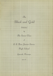 Page 5, 1948 Edition, Bass High School - Black and Gold Yearbook (Greenville, MS) online yearbook collection