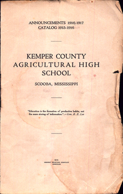 Page 1, 1917 Edition, Kemper County Agricultural High School - Yearbook (Scooba, MS) online yearbook collection