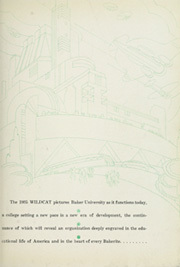 Page 7, 1935 Edition, Baker University - Wildcat Yearbook (Baldwin City, KS) online yearbook collection