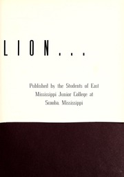 Page 7, 1939 Edition, East Mississippi Community College - Lion Yearbook (Scooba, MS) online yearbook collection