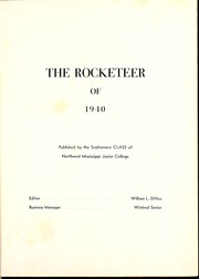 Page 5, 1940 Edition, Northwest Mississippi Community College - Rockateer Yearbook (Senatobia, MS) online yearbook collection