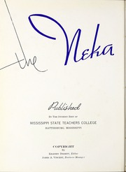 Page 6, 1939 Edition, University of Southern Mississippi - Southerner Yearbook (Hattiesburg, MS) online yearbook collection