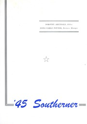 Page 5, 1945 Edition, University of Southern Mississippi - Southerner Yearbook (Hattiesburg, MS) online yearbook collection
