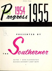 Page 7, 1955 Edition, University of Southern Mississippi - Southerner Yearbook (Hattiesburg, MS) online yearbook collection