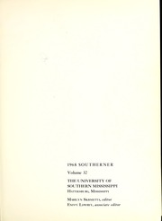 Page 5, 1968 Edition, University of Southern Mississippi - Southerner Yearbook (Hattiesburg, MS) online yearbook collection