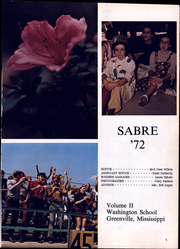 Page 5, 1972 Edition, Washington School - Sabre Yearbook (Greenville, MS) online yearbook collection