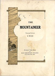 Page 3, 1925 Edition, Blue Mountain College - Mountaineer Yearbook (Blue Mountain, MS) online yearbook collection