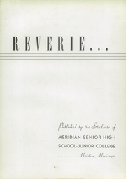 Page 7, 1939 Edition, Meridian Junior College - Reverie Yearbook (Meridian, MS) online yearbook collection