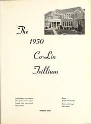 Page 5, 1950 Edition, Copiah Lincoln Community College - Trillium Yearbook (Wesson, MS) online yearbook collection
