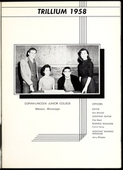 Page 9, 1958 Edition, Copiah Lincoln Community College - Trillium Yearbook (Wesson, MS) online yearbook collection
