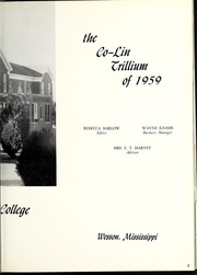 Page 7, 1959 Edition, Copiah Lincoln Community College - Trillium Yearbook (Wesson, MS) online yearbook collection