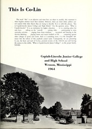 Page 9, 1964 Edition, Copiah Lincoln Community College - Trillium Yearbook (Wesson, MS) online yearbook collection