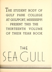 Page 9, 1934 Edition, Gulf Park College - Sea Gull Yearbook (Gulfport, MS) online yearbook collection