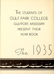Page 6, 1935 Edition, Gulf Park College - Sea Gull Yearbook (Gulfport, MS) online yearbook collection