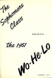 Page 5, 1951 Edition, East Central Community College - Wo He Lo Yearbook (Decatur, MS) online yearbook collection