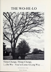 Page 5, 1971 Edition, East Central Community College - Wo He Lo Yearbook (Decatur, MS) online yearbook collection