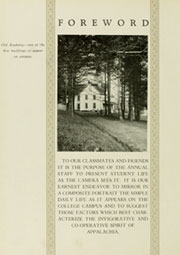 Page 10, 1933 Edition, Appalachian State University - Rhododendron Yearbook (Boone, NC) online yearbook collection