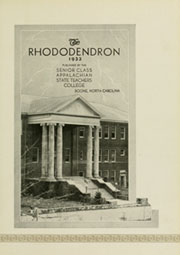 Page 7, 1933 Edition, Appalachian State University - Rhododendron Yearbook (Boone, NC) online yearbook collection