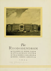 Page 7, 1934 Edition, Appalachian State University - Rhododendron Yearbook (Boone, NC) online yearbook collection