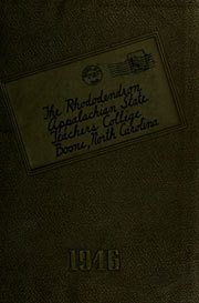 Page 1, 1946 Edition, Appalachian State University - Rhododendron Yearbook (Boone, NC) online yearbook collection
