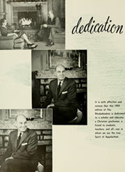 Page 8, 1959 Edition, Appalachian State University - Rhododendron Yearbook (Boone, NC) online yearbook collection