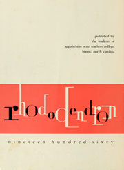 Page 6, 1960 Edition, Appalachian State University - Rhododendron Yearbook (Boone, NC) online yearbook collection