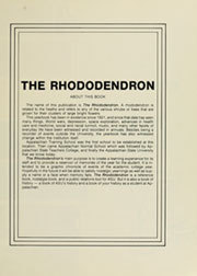 Page 5, 1981 Edition, Appalachian State University - Rhododendron Yearbook (Boone, NC) online yearbook collection
