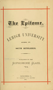 Page 9, 1879 Edition, Lehigh University - Epitome Yearbook (Bethlehem, PA) online yearbook collection