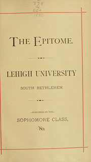 Page 7, 1880 Edition, Lehigh University - Epitome Yearbook (Bethlehem, PA) online yearbook collection