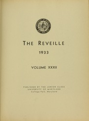 Page 9, 1933 Edition, University of Maryland College Park - Terrapin / Reveille Yearbook (College Park, MD) online yearbook collection