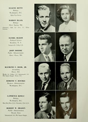 Page 17, 1950 Edition, American University - Talon Yearbook / Aucola Yearbook (Washington, DC) online yearbook collection