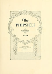 Page 7, 1924 Edition, Elon University - Phi Psi Cli Yearbook (Elon, NC) online yearbook collection