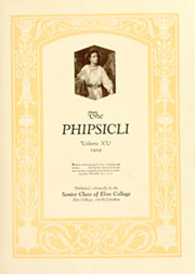 Page 7, 1929 Edition, Elon University - Phi Psi Cli Yearbook (Elon, NC) online yearbook collection