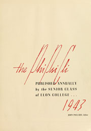 Page 5, 1943 Edition, Elon University - Phi Psi Cli Yearbook (Elon, NC) online yearbook collection