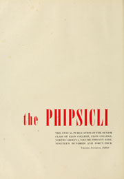 Page 6, 1944 Edition, Elon University - Phi Psi Cli Yearbook (Elon, NC) online yearbook collection