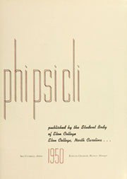 Page 7, 1950 Edition, Elon University - Phi Psi Cli Yearbook (Elon, NC) online yearbook collection