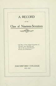 Page 9, 1917 Edition, Haverford College - Record Yearbook (Haverford, PA) online yearbook collection