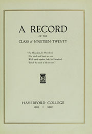 Page 9, 1920 Edition, Haverford College - Record Yearbook (Haverford, PA) online yearbook collection