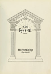 Page 7, 1926 Edition, Haverford College - Record Yearbook (Haverford, PA) online yearbook collection